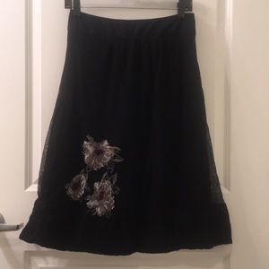 Stella Forest Skirts - Embroidered Floral Mesh Skirt